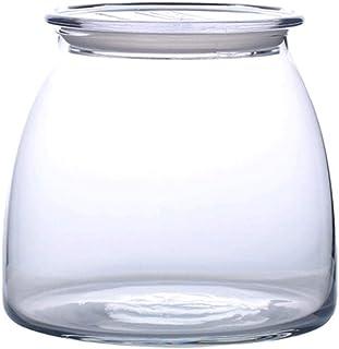 AWAING Bocaux Pot de rangement Cookie Jar transparent for la maison, Hôtel, cuisine, large bouche Canister Rangement et Or...