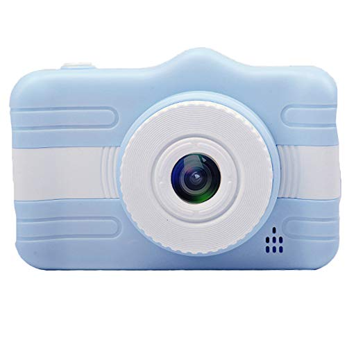 MOOLFN Cámara Digital para Niños Dual Cámara 1300W HD Pixel Frente Y Cámara Trasera Mini Electronics Regalo De Cumpleaños Take Fotografías Fotos,Azul