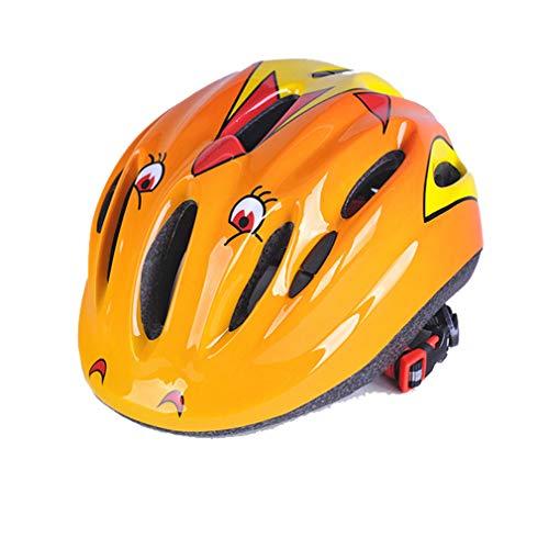 LHY SPORTS SERLES Jugend Inliner Skateboard Schutzhelm Rollschuhlaufen Farbiger Helm,Kinder Fahrrad Integral Rollerhelm für Radfahrer Scooter Bike Sicherheit Helm Kids,Yellow