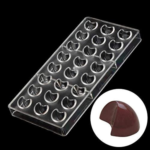 チョコレート型 型拔き 金型 お菓子作り 手作り 便当 ケーキ 氷格子 モールド DIY ポリカーボネート 誕生日 結婚記念日 プレゼント チョコ ギフトセット付 月形