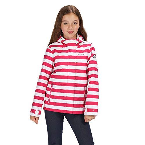 Regatta Kinder Bambalina Waterproof Hooded Outdoor Jacke, Cabaret Stripe, 13 Jahre