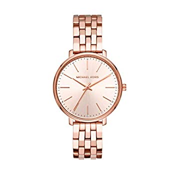 Michael Kors Women s Pyper Stainless Steel Quartz Watch with Stainless-Steel-Plated Strap Rose Gold 16  Model  MK3897