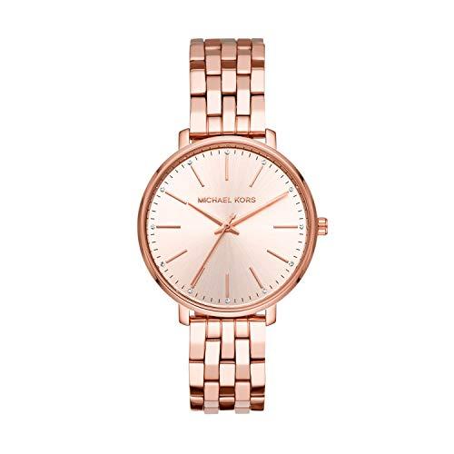 Michael Kors Damen Analog Quarz Uhr mit Edelstahl Armband MK3897