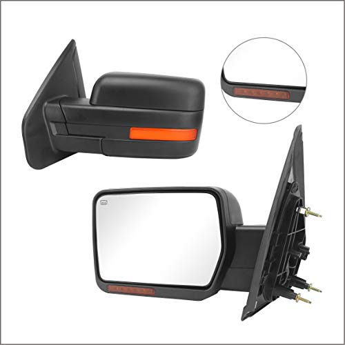 Perfit Zone Towing Mirrors Replacement Fit for 2007-2014 F150, POWER HEATED,...