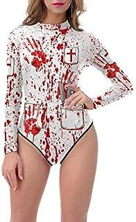 LDSSP Cosplay Tute di Halloween Horror Blood Organs Stampa Bikini Costumi da Bagno Costumi da Bagno Costume da Bagno per D...