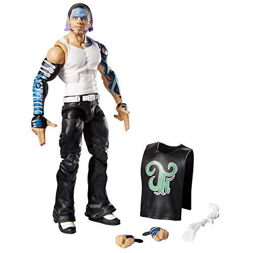 WWE GKP88 - Elite Collection Deluxe Jeff Hardy Actionfigur im Wrestling-Look mit realistischen Gesichtszügen und Zubehör, Spielzeug ab 8 Jahren