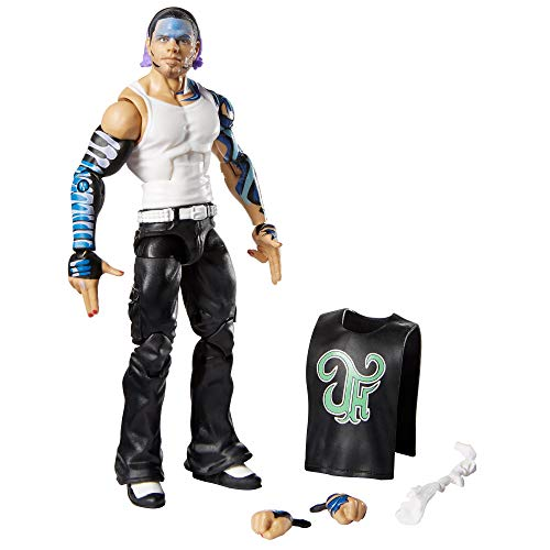 WWE Jeff Hardy Elite Series #75 Deluxe Action Figure with Realistic Facial Detailing, Iconic Ring Gear & Accessories