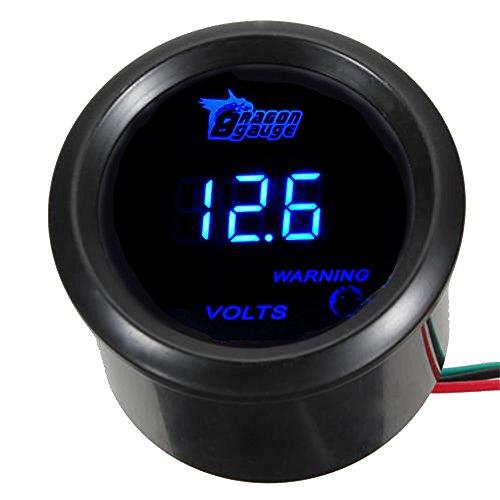 """ESUPPORT Car 2"""" 52mm Digital Volt Voltage Gauge Blue LED"""