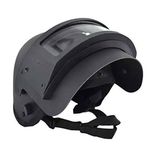 K6-3 Helmet Replica with Vizor   Russian Special Units (Black)