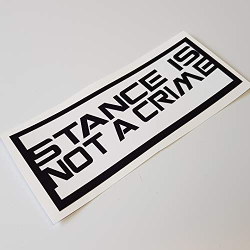 folien-zentrum Stance is not a Crime Shocker Hand Auto Aufkleber JDM Tuning OEM Dub Decal Stickerbomb Bombing Sticker Illest Dapper Fun Oldschool