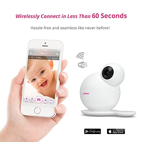 iBaby Monitor M6S,Smart Wifi Enabled Total Baby Care System 1080p Wireless Infant Safety Camera Kit with Wi-Fi Speakers, Night Vision, 360° Pan and 110° tilt