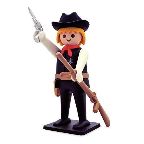 Figura de sheriff vintage, coleccionable, pintada a mano