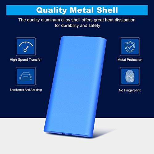Disco duro externo, disco duro externo delgado unidad de almacenamiento portátil compatible con PC, portátil y Mac (2 TB, GOLD) miniatura