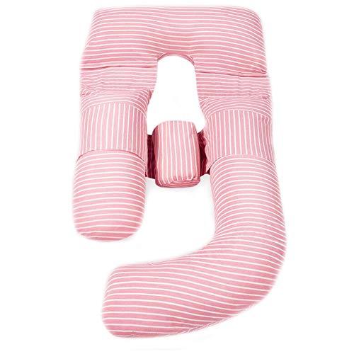 Coussin De Maternité Grossesse Oreiller de grossesse pour cadeau, oreiller de maternité pour corps complet pour femmes enceintes, oreiller en forme de fermeture à glissière Comfort G avec housse amovi