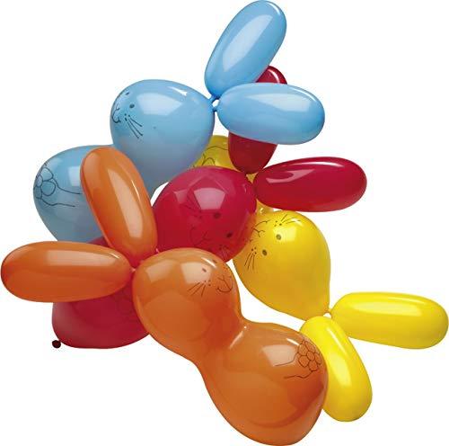 amscan Latexballons Hasen, Blau/Rot/Oran/Gelb