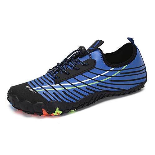 YQQMC Zapatos de verano de agua para hombre, zapatos de playa para mujer, transpirables, color azul, talla 41 EU