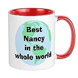 XCNGG Taza personalizada Nancy Taza de café única, taza de café