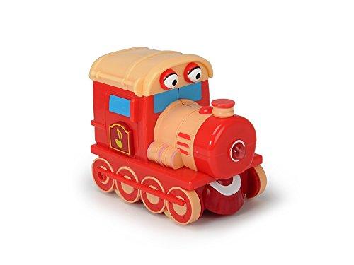 Dickie Toys - Helden der Stadt, Zara Zug, die Lokomotive mit Licht, originalen Liedern, Sounds und Freilauffunktion, inkl. Sammelkarte mit Geheimcode