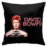 David Bowie N / A David Bowie Coussin en fibres 45 x 45 cm Produits ménagers Confortable et doux Convient pour le salon B 1ro
