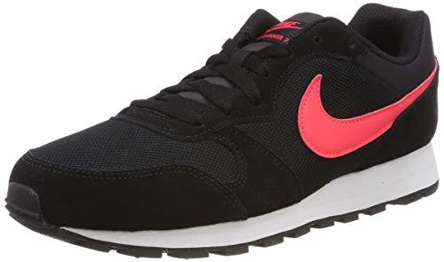 Nike MD Runner 2, Zapatillas de Running Hombre, Multicolor (Black/Red Orbit 008), 43 EU