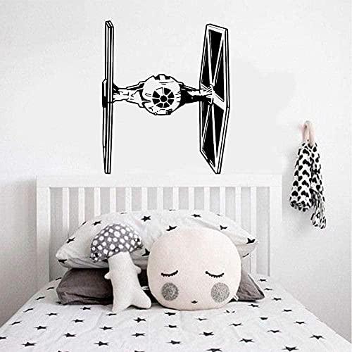 Tie Fighter pegatina de pared vinilo decoración del hogar habitación de niño adolescente dormitorio calcomanía diseño de interiores papel tapiz Mural 57x68cm