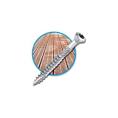 Diamwood - Seau de 500 vis terrasse INOX A2, tête réduite crantée, TX25, D. 5 x 50 mm + embout offert - 98000505505 - Diamwood