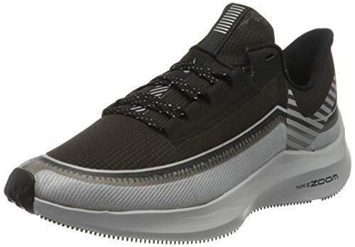 Nike Zoom Winflo 6 Shield, Zapatillas de Correr Mujer, Negro (Black/Reflect Silver/Wolf Grey), 35.5 EU