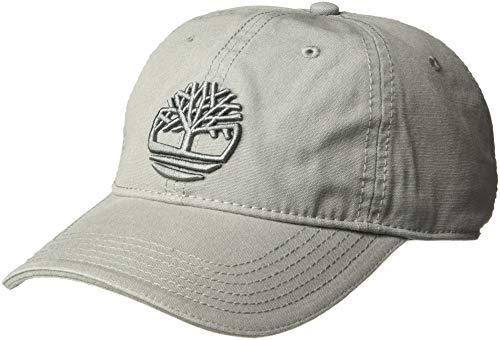 Timberland Men's Cotton Canvas Baseball Cap, Grey, One Size