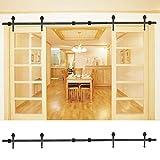 Herrajes para puertas corredizas Riel para puerta corrediza Kit de riel para puerta corrediza de granero Riel para puerta corrediza 4m para armario interior Suministros de cocina para el