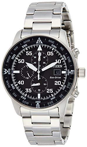 Citizen CA0690-88E Eco-Drive Reloj cronógrafo con esfera negra para hombre