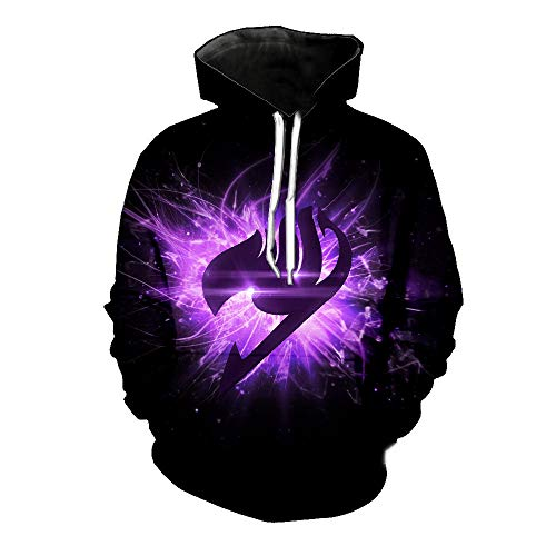 Lichee Boys Anime Fairy Tail Hoodie Pullover Long Sleeve Cosplay Sweatshirt with Pocket, 15, X-Large
