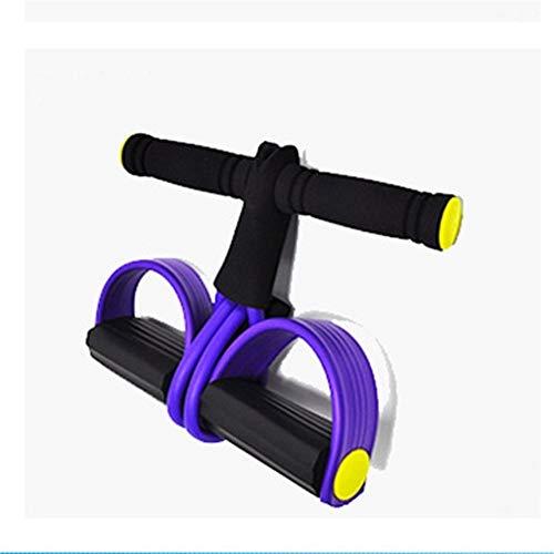 ZRDY Fasce Elastiche Pull Corde Ginnico Addominale Vogatore della Pancia della Fascia di Resistenza Home Gym Sport Training Elastici for Attrezzi Fitness (Color : Purple)