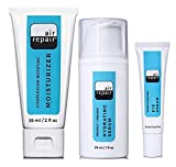 Air Repair Skincare Protect + Prevent Hydrating Serum, Super-Hydrating Eye Cream, Complexion Boosting Moisturizer Featuring Gute Carrying Bag (4 Piece Bundle)