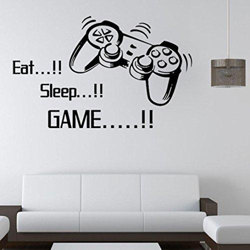 Beautyjourney Manger Dormir Jeu Mur Autocollants GarçOns Chambre Lettre Bricolage Enfants Chambres DéCoration Mur DéCalcomanies Art Maison DéCor Mural Autocollants (A)