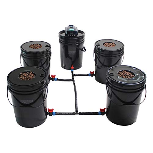 Grow1 Hydroponic Grow System Deep Water Culture (DWC) Complete Kit (4 Bucket + Reservoir Kit)