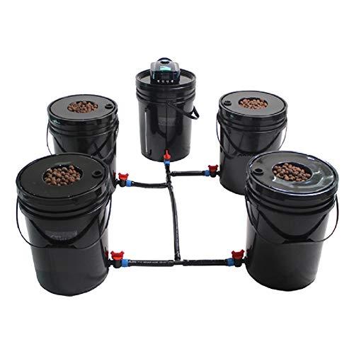 Grow1 Hydroponic Grow System Deep Water Culture (DWC) Complete Kit (4 Bucket + Reservoir Kit)