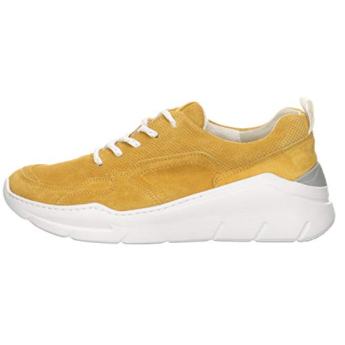 Paul Green Damen Sneaker 4920, Frauen Low-Top Sneaker, sportschuh Plateau-Sohle Lady Ladies feminin elegant Women's Women,Marigold,39 EU / 6 UK