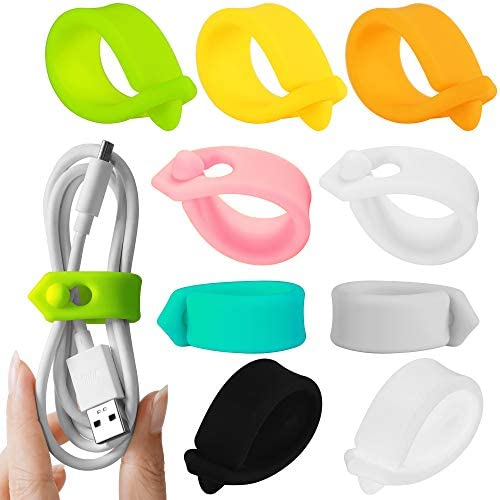 ELFRhino Cord Organizer Reusable Cable Straps Clips Wire Ties Charging Cord Power Cord Earphone product image
