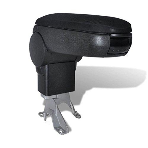 vidaXL 150002 - Reposabrazos para coche, color negro