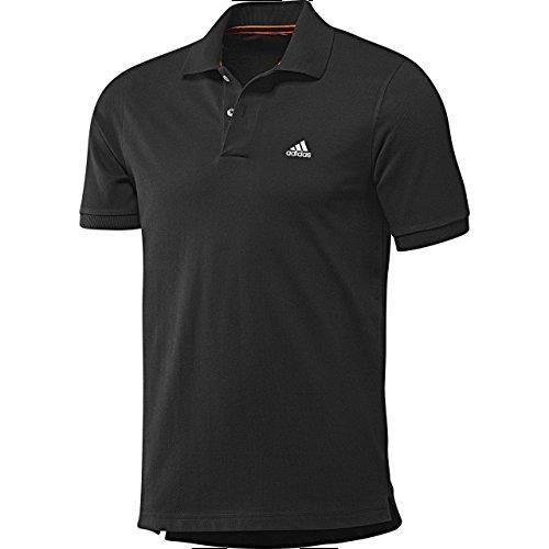 adidas Essentials - Polo de Tenis para Hombre, tamaño L, Color Negro