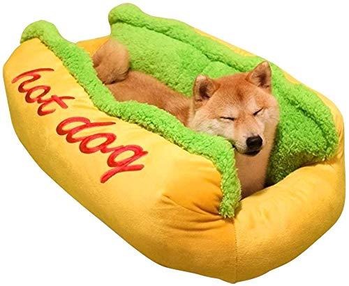 DDBAO ペットベッド 冬用 猫ベッド 犬 洗える ベッド 冬 ホットドッグ 小動物用 小型 大型 ふわふわ あった...