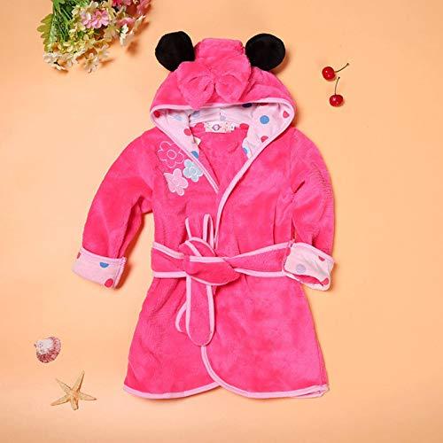 N-B Kinder Jungen Mädchen Robe Bademantel Weiche Flanell Robe Pyjamas Baby Kinder Warme Kleidung 2-6Y