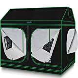 Quictent Grow Tent 96'x48'x71' Roof Cube Tent with Observation Window and Removable Floor Tray for Plant Growing 8x4 ft