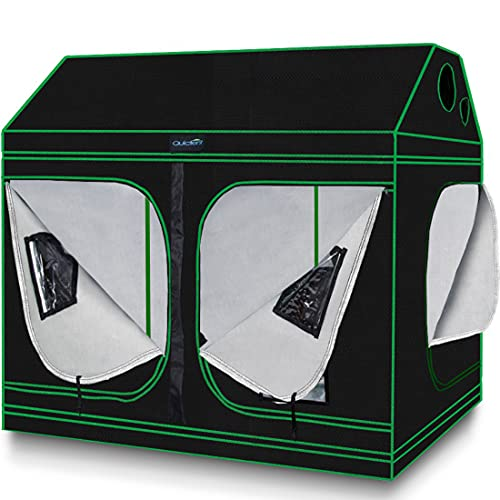 Quictent Grow Tent 96'x48'x71' Roof Cube Tent with Observation Window and Removable Floor Tray for...