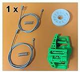 MIAOXIAO Seedling Store Kit de Ventanas Ajuste para BMW 1 Serie E87 Regulador de Ventana Kit de reparación Trasera Derecha 2003-2013