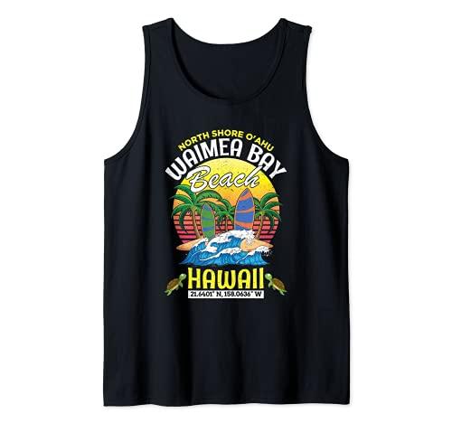 Bahía de Waimea Haleiwa Costa Norte de Oahu Hawái O'ahu Camiseta sin Mangas