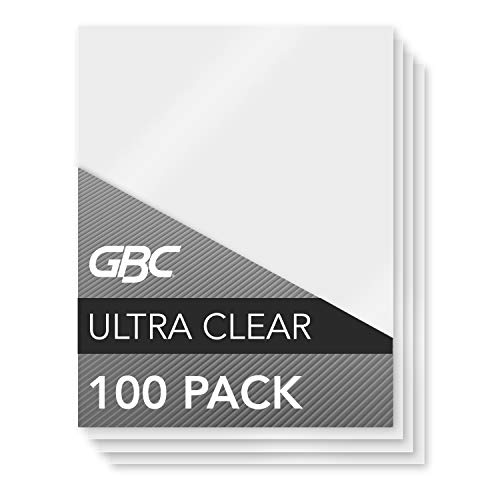 GBC Thermal Laminating Sheets / Pouches, Letter Size, 3 Mil, Ultra Clear, 100/Box (3745022)