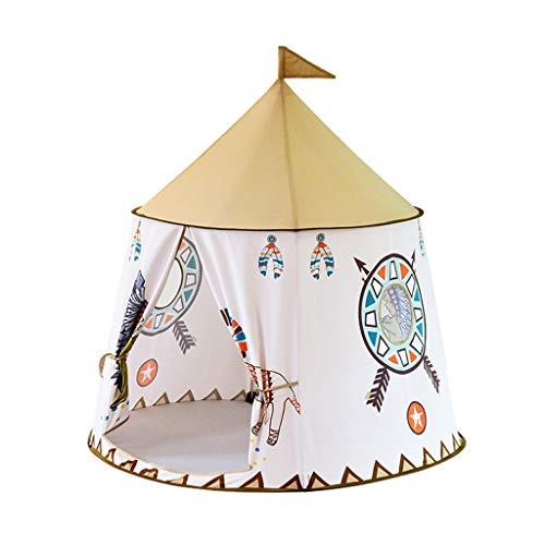 Tents Indian teepee for Children's games, indoor Reading corner portable Yurt children's play for outdoor (Size : 116 * 116 * 123CM)