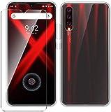 LJSM Hülle für UMIDIGI X + Panzerglas Bildschirmschutzfolie Schutzfolie - Transparent Weich Silikon Schutzhülle Crystal Flexibel TPU Tasche Hülle für UMIDIGI X (6.35