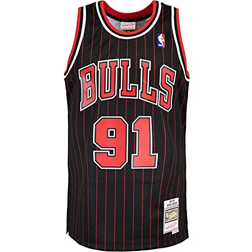 Mitchell & Ness Swingman Dennis Rodman Chicago Bulls 95/96 - Camiseta (talla XL), color negro